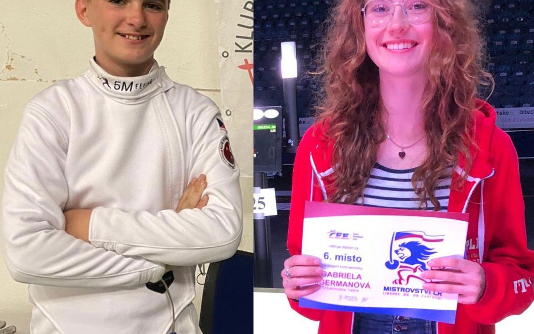 Gábina Aigermanová – stříbrná, Václav Krogner – bronzový | MISTROVSTVÍ ČR 2021